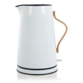 STELTON electrische waterkoker EMMA wit/lichtblauw 1,2 liter