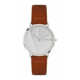 ORREFORS O-TIME horloge cognac/ wit