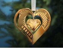 GEORG JENSEN CHRISTMAS Mobile Heart 2019 Gold plated